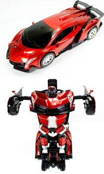 Remote Control Robot RC Transformation Toys One Key car Action Figures class Electronic Transform Posion VS Jia Qi TT667 FSWB