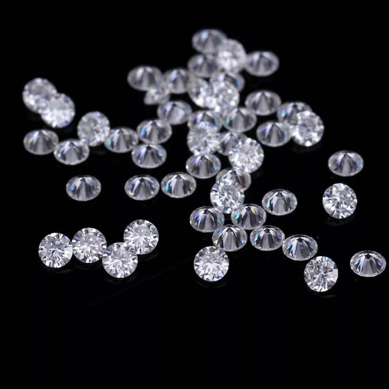 30pcs/lot Small Diamonds 1-2.5mm Synthetic Moissanite Stones White D Color VVS Moissanite Factory Price for Silver Gold Jewelry