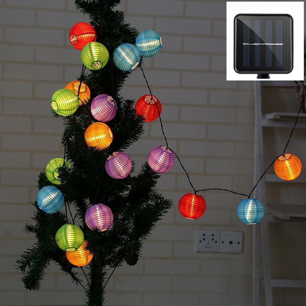 Светодиодная гирлянсветильник на солнечной батарее уличный декоративный шнурок