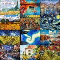 diy 5d diamond painting oil painting landscape series full round square drill diamond embroidery cross stitch kits home decor