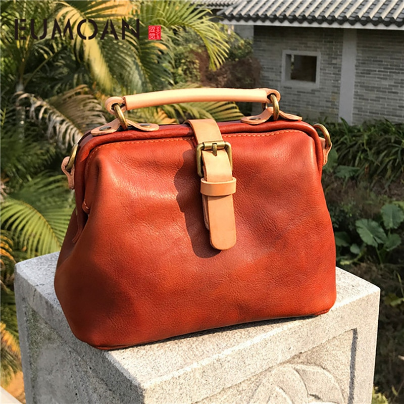 EUMOAN New handbags fashion retro leather handbags rose imprint ladies diagonal handbag mini shoulder bag