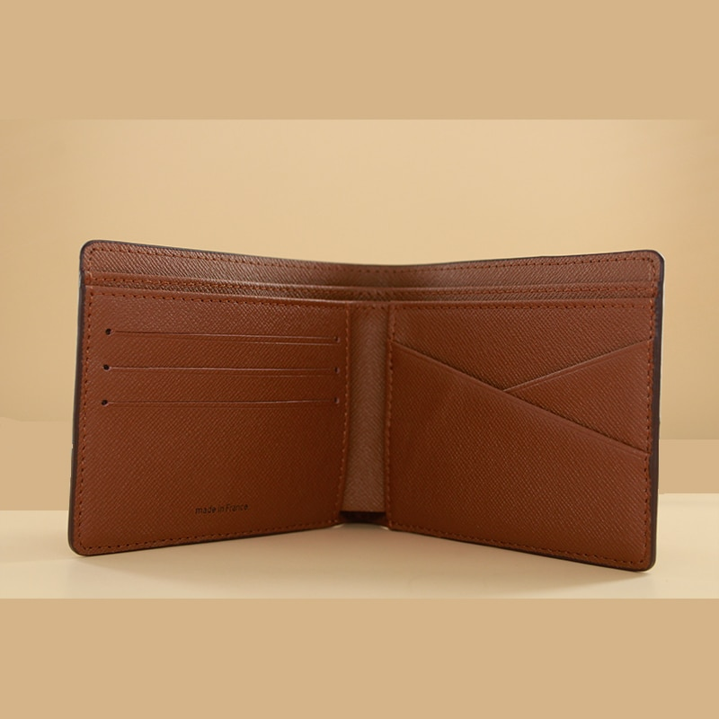 Luxury high quality men's wallet fashion men's folding card bag available in a variety of colors With full package serial number