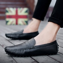 Quality Pu Leather Men Loafer Soft Moccasins Loafers Fashion Brand Men Flats Comfortable Driving Sho