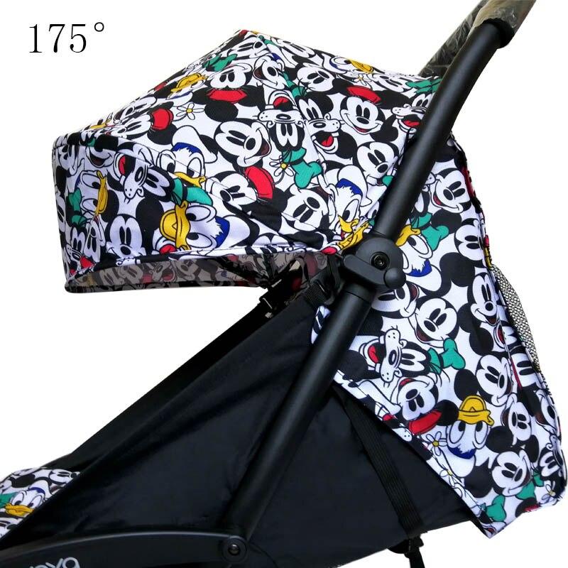 Yoya Yoyo-غطاء عربة Yoya Yoyo للأطفال ، مرتبة ، ظهر بجيوب شبكية ، وسادة عربة ، مظلة ، وسادة ، بطانة مقعد