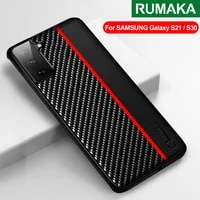 s21 ultra shockproof cover for samsung galaxy s21 plus case for samsung s21 note 20 ultra s20 fe carbon fiber leather back case