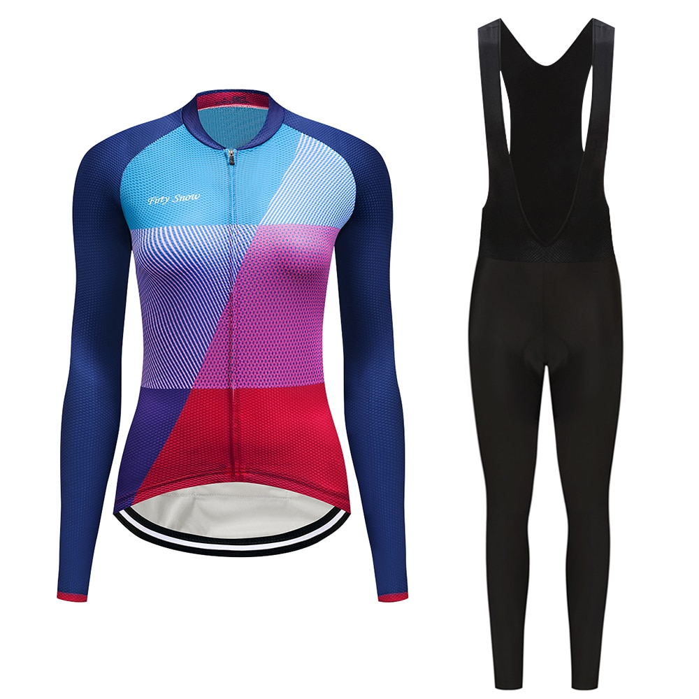 Pro bike ropa mujer conjunto largo 2020 otoño ciclismo ropa bib vestido deporte bicicleta jersey señoras trisuit uniforme mtb mallot