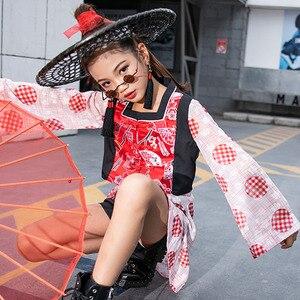 Костюм джазового танца для девочек, детская одежда в китайском стиле для выступлений, модная одежда для современных уличных танцев, подиумн...