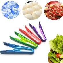 3 teile/satz Kunststoff Lebensmittel Tong 3 In 1 Grill Zange Anti-slip Salat Buffet Clamp Kuchen Brot Portion Schellen küche Utensilien