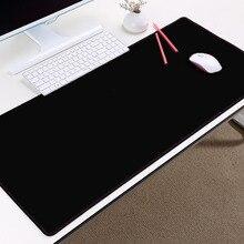 Mairuige супер большой размер Xxl чистый черный цвет резиновая компьютерная игра игровой коврик для мыши коврик для украшения ПК рабочего стола ...