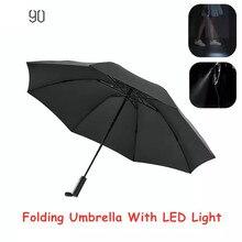 Новый автоматический складной зонт 90Fun 8K с защитой от дождя и ветра UPF50 + защита от УФ лучей со светодиодсветильник кой