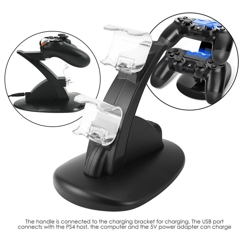 Дуа зарядка через USB гнездо комплект Зарядное устройство Док-станция Подставка для PS4 консоль контроллер Play Station игровой коврик с usb-кабелем
