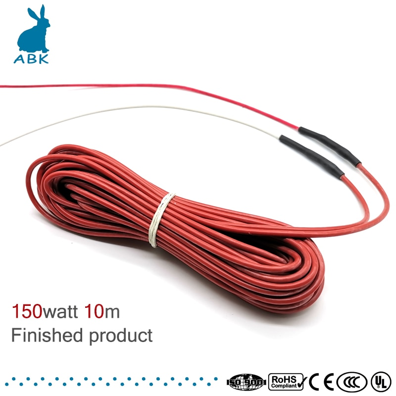 12K 10m 150w cable de calefacción de caucho de silicona de fibra de carbono suave resistente cable de calefacción sin radiación caliente cable de calor eléctrico
