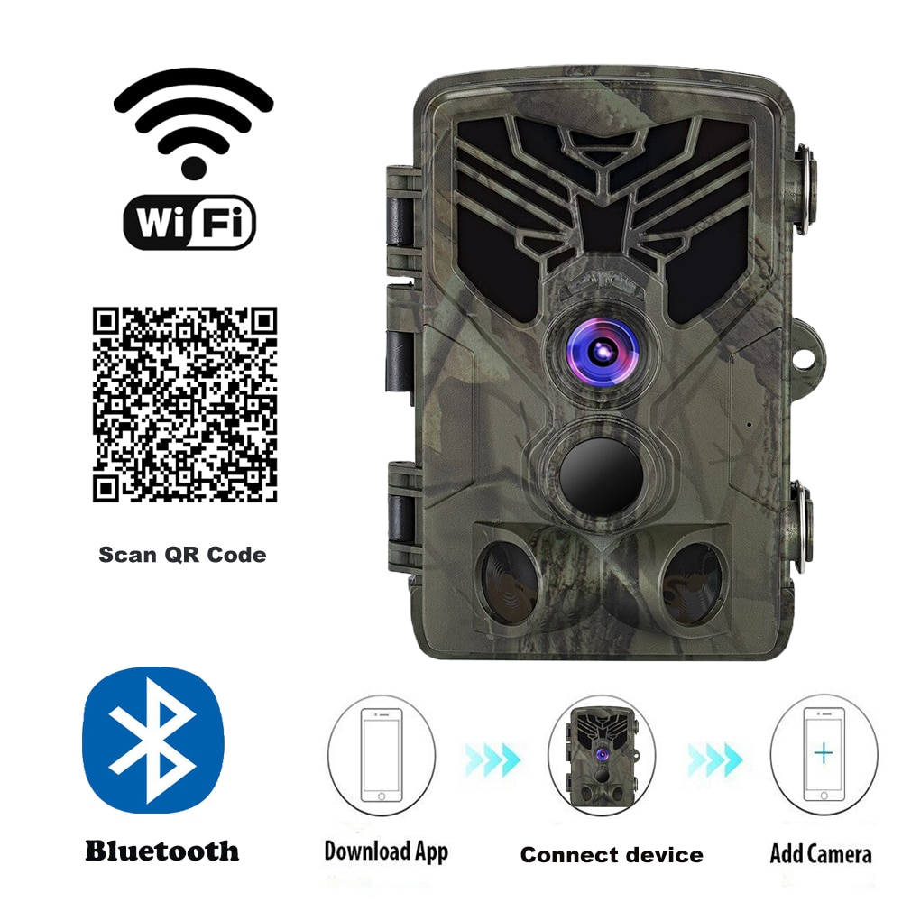 Live Show Wild Trail Camera  Wifi APP Bluetooth Control Hunting Cameras Wifi830 20MP 1080P Night Vision Wildlife  Photo Traps