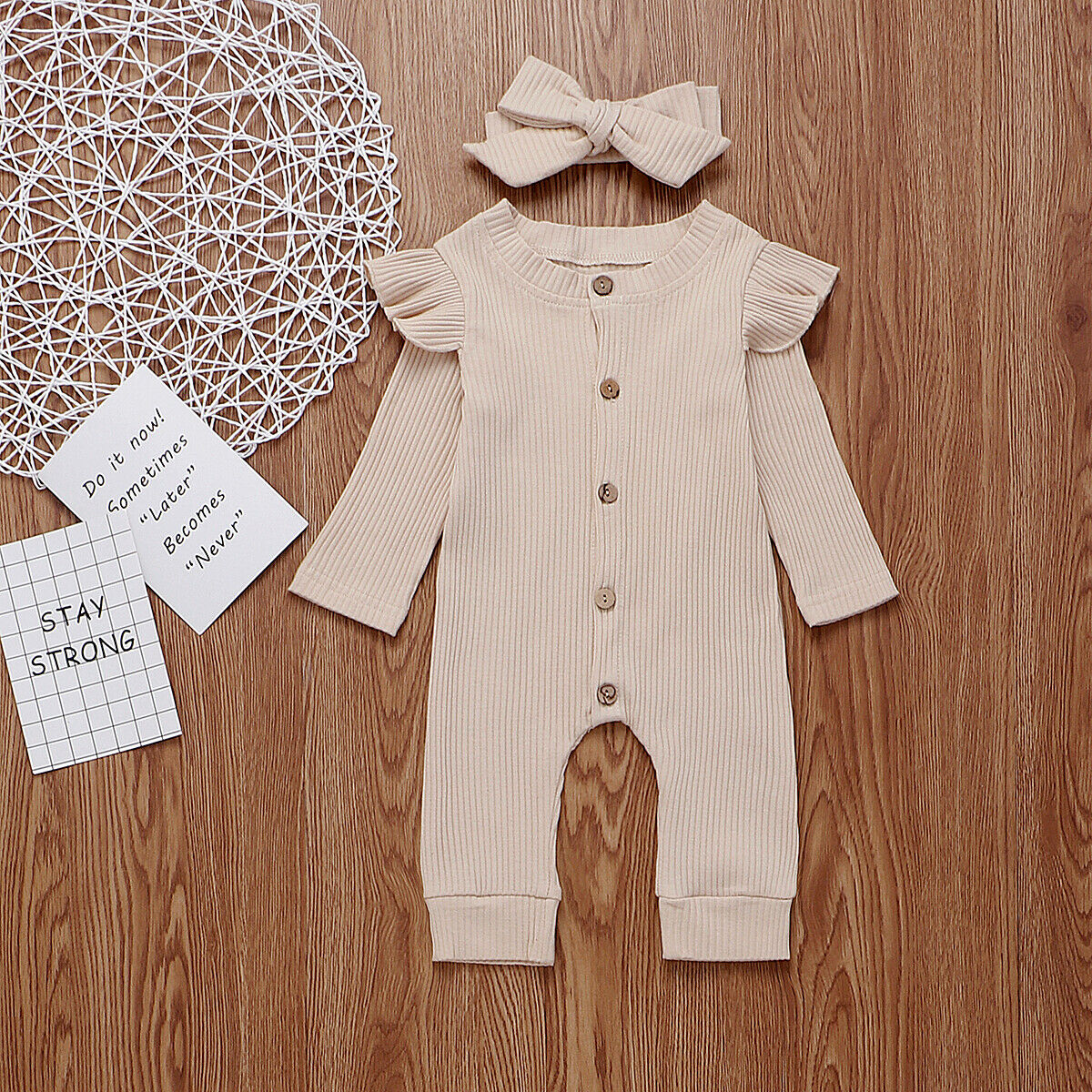 baby girl clothes autumn lattice knitted baby clothes newborn baby girl romper cotton baby cardigan sweater romper jumpsuit Baby Spring Autumn Clothing Newborn Baby Girl Boy Ribbed Clothes Knitted Cotton Romper Jumpsuit Solid 2PCS Outfits