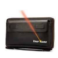 WESTAL men's clutch bag leather purse for men clutch male vintage men's wallet card holder clutch male bags coin purse 9043