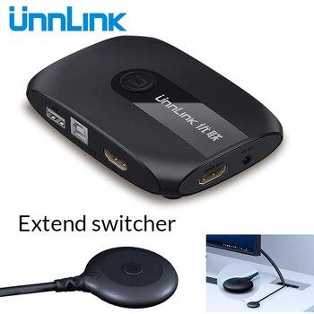 Unnlink 2 4 Ports KVM Switch avec Extender 4K 1080P USB2.0 partage moniteur imprimante clavier souris pour 2 4 ordinateur portable