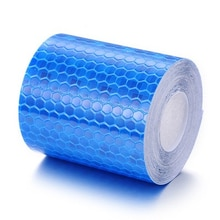 1 Roll 5cm*3m Car Body Reflective Tape Decor Warning Sticker Safety Mark Self Adhesive Warning Tape for Motorcycle Bicycle