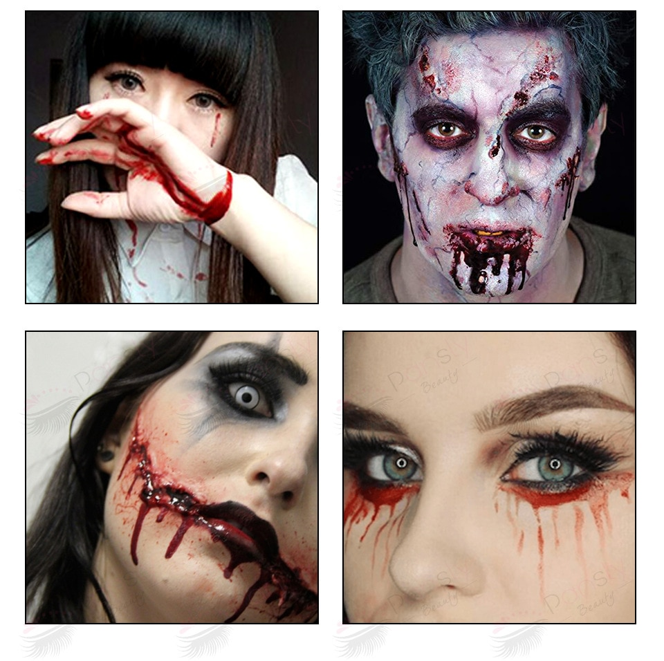 Neue Halloween Make-Up Ultra-realistische Gefälschte Blut Gesicht Körper Malen Wunden Narben Prellungen Cosplay Party Vampire Dekorationen Versorgung