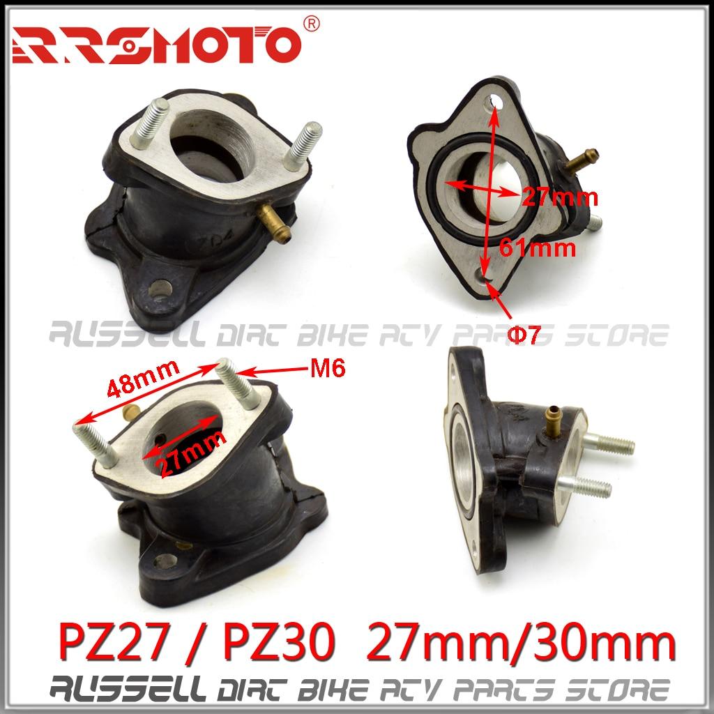 Adaptador de goma PZ30 PZ27 27mm 30mm para entrada de tubo colector para 200cc 250cc ATV Zongshen Shineray Hisun Quad Buggy