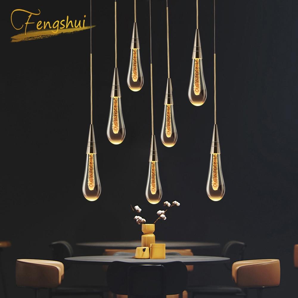 Youlaike-ثريا كريستال حديثة ، تصميم شمالي ، إضاءة زخرفية داخلية ، مثالية للدور العلوي أو المطبخ أو السلالم أو البار أو المطعم.