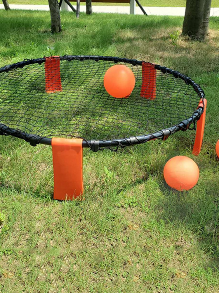 outdoor Children Mini Grass Beach Volleyball Sports Toys Outdoor Leisure Spike Ball Game for  Exercise Sport Fitness Equipment