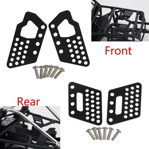 Metal Front & Rear Shock Suspension Bracket Mount for Axial Wraith 90045 90056 1/10 RC Car,Black enlarge