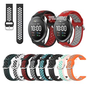 20mm 22mm Sport Silicone Breathable Strap For Haylou Solar LS05 Smart Watch Wristband