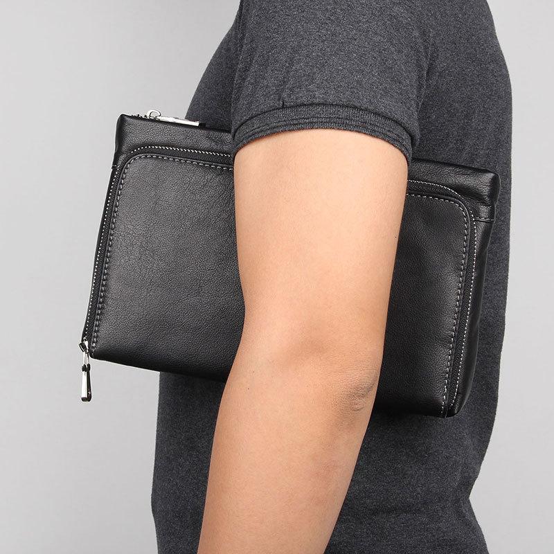 Мужской удобный клатч, мужской клатч из натуральной кожи с ремешком на руку, кошелек, мужская деловая сумка для телефона, кошелек для держат...
