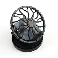 energy saving clip on solar power cell fan sun energy panel cooling cool black portable summer for traveling fishing climbing