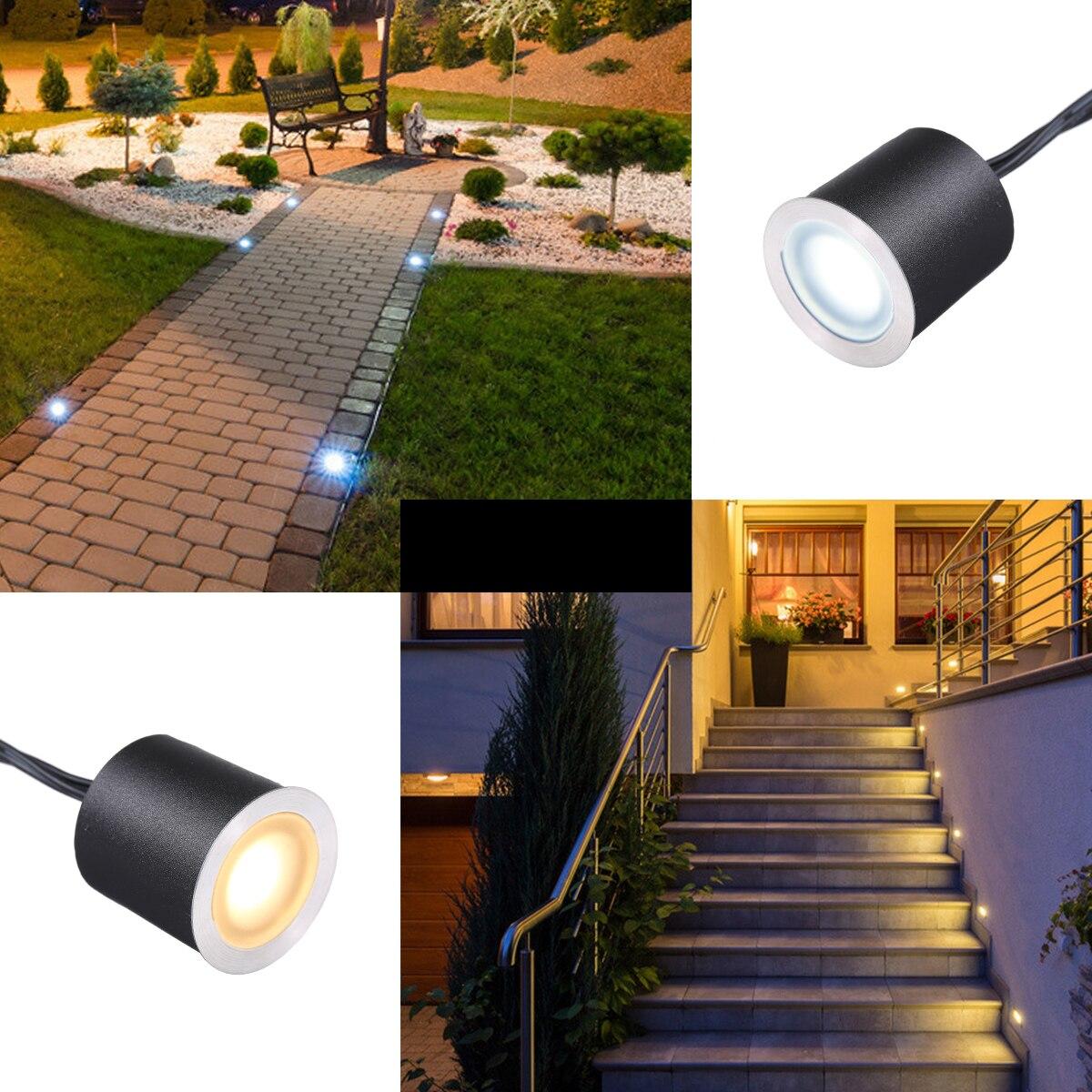 Lampara LED empotrada para exteriores, luz de paisaje para Patio, camino, escaleras y Patio, impermeable, IP67 DC12V enlarge
