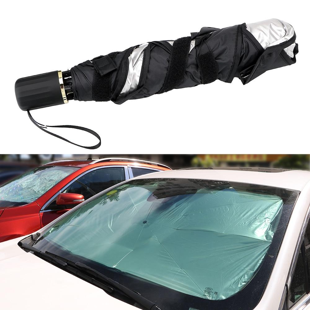 LEEPEE, protección UV, Escudo de Umbrella, parabrisas, ventana frontal, paraguas, aislamiento térmico, cubiertas para parasol de coche, cubierta plegable para coches