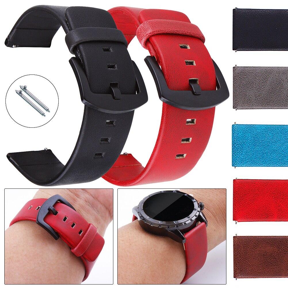 Correa de reloj de deporte de cuero Universal 18mm 20mm 22mm correa de pulsera correa de muñeca para Fossil Q tailor ventrue Gen3 Funder WRAP cinturón