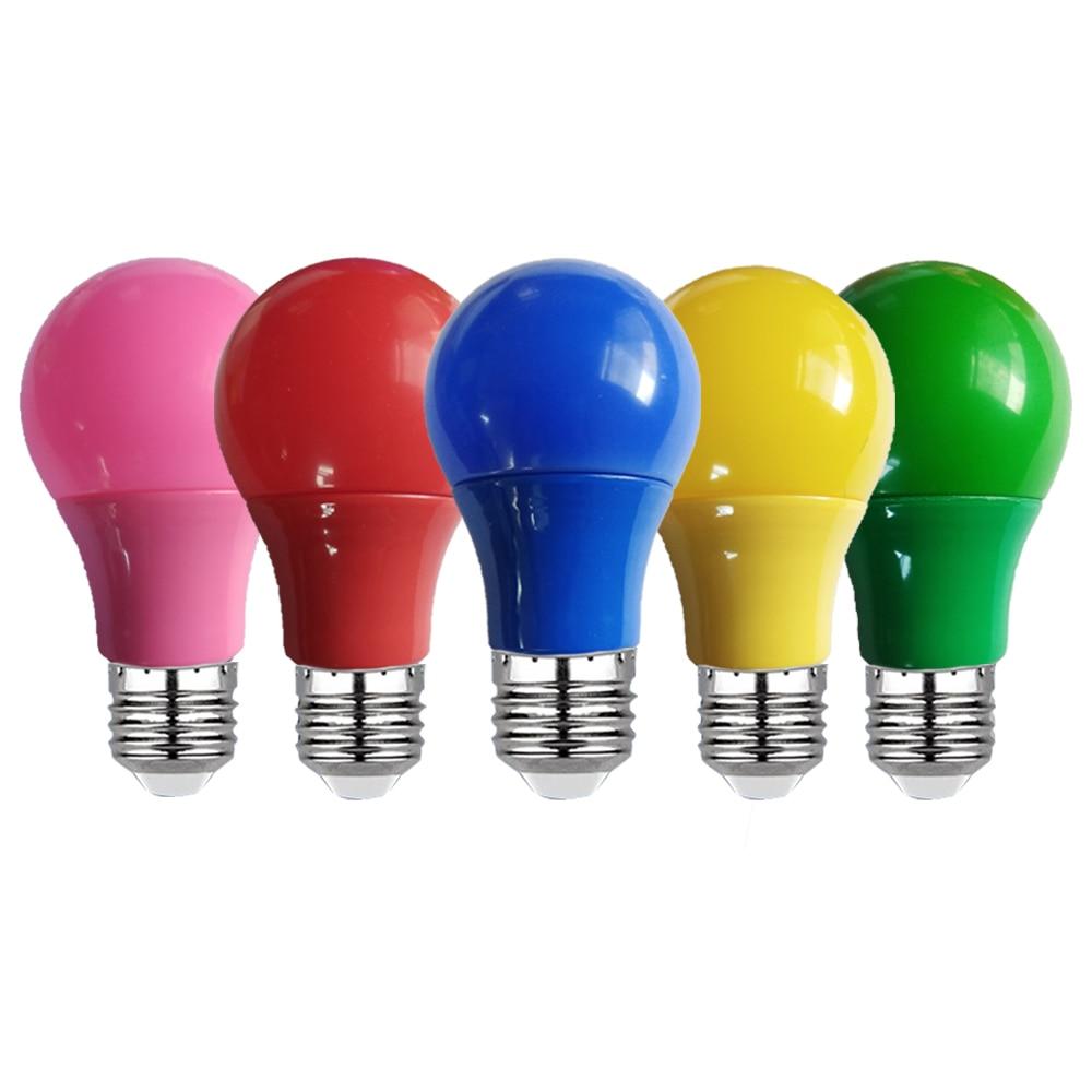 Bombilla Led E27 de colores, 3W, 5W, 7W, 9W, lámpara AC220V, 110V,...