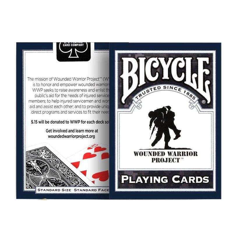 Bicicleta Guerrero dañado naipes de la Marina de Guerra del Ejército de guerra Deck Poker tamaño USPCC juegos de cartas mágicas trucos de magia Accesorios