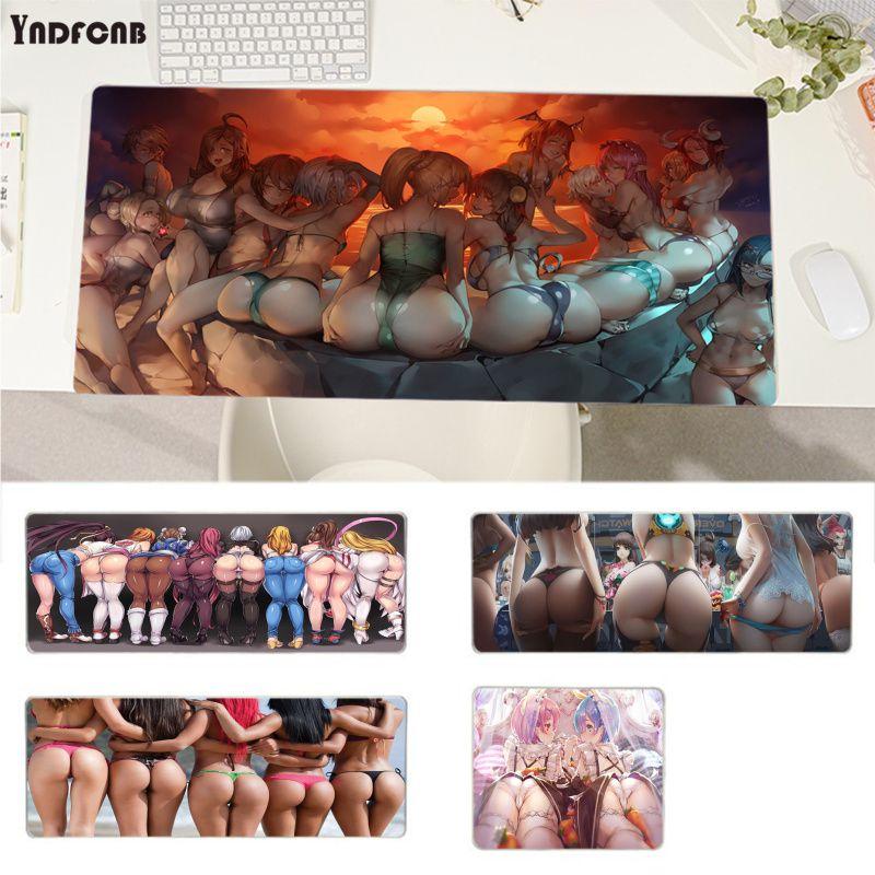 Игровые коврики YNDFCNBAnime с сексуальной девушкой, задницей, под заказ, игровые коврики, коврик для мыши, размер для коврика для мыши, клавиатуры...