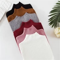 winter warm white basic ladys sweater womens turtleneck pullover knit sweater for women jumper pull femme pink female pullover
