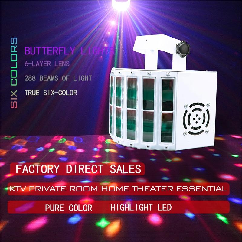 Профессиональные сценические светодиодсветодиодный RGB-лампы со звуковым управлением, стробоскоп для диджея, дискотеки, вечеринки, эффект о...