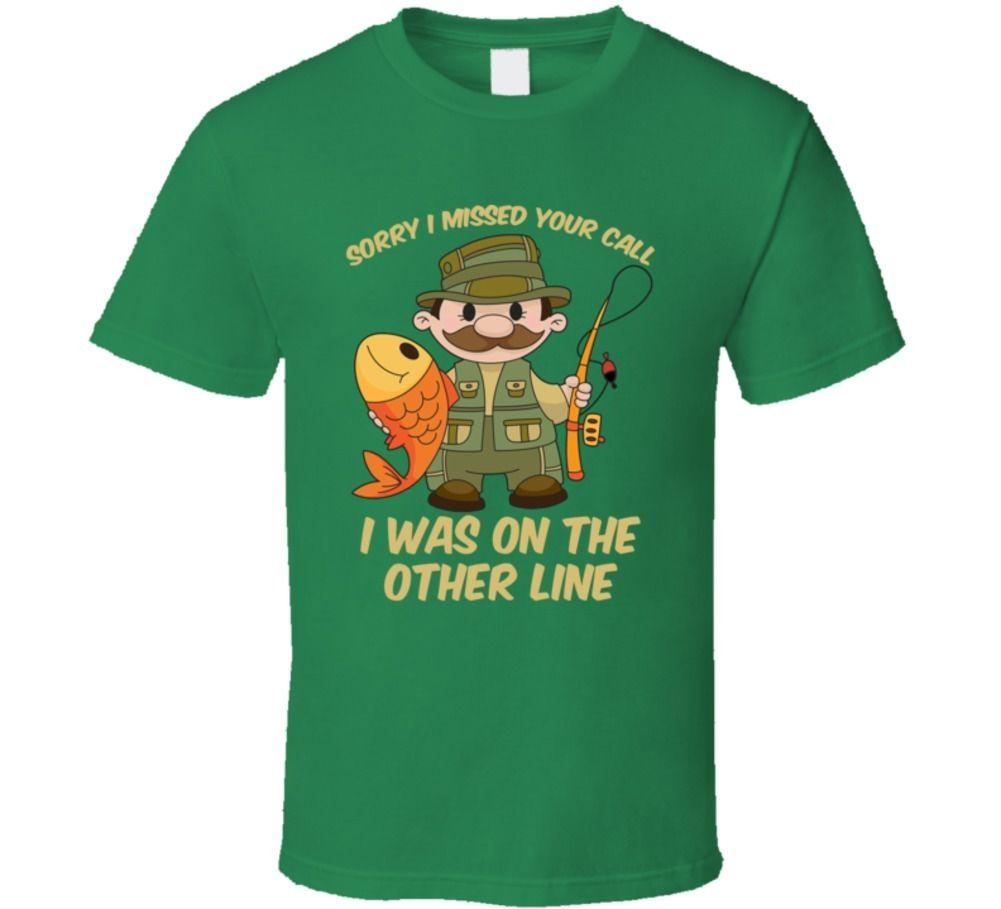 Diseño divertido en la otra línea pescador Sporter camiseta Hobby los entusiastas de la pesca de verano de algodón o-Cuello T camisa de manga corta