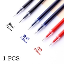 0.38mm 1pcs/bag Gel Pen Refill Office Signature Rods Red Blue Black Ink Refill Office School Station