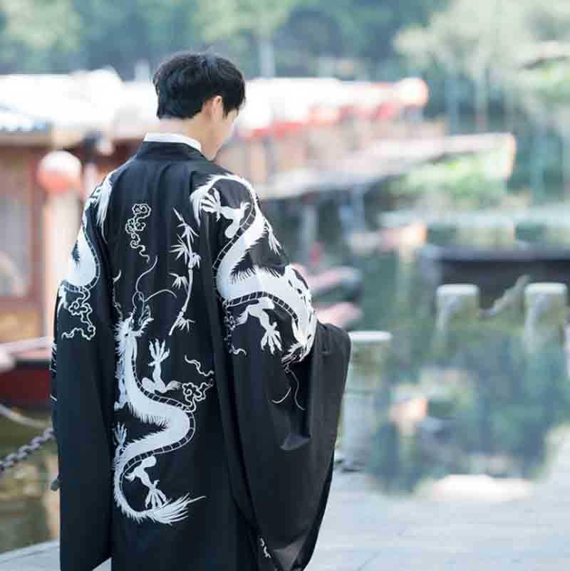 Black&Red Hanfu Men&Women Chinese Traditional Embroidery Clothes Adult Halloween Cosplay Costume For Plus Size