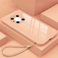 fashion anti fall liquid glass phone case for huawei nova mate p30 p40 30 40 5 6 7 8 se pro lite 5g ultra thin protection cover