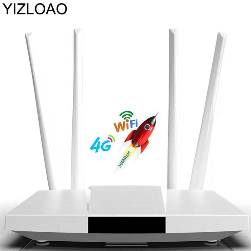 YIZLOAO 4G LTE CPE/маршрутизатор 300 Мбит/с шлюз разблокирован Wifi роутер 4G LTE FDD TDD RJ45 Ethernet порты и слот для sim-карты до 32 пользователей