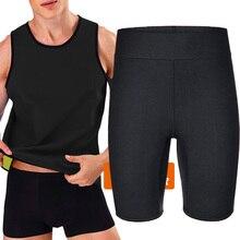 Slimmingbelt para homens camisa de suor neoprene homem sauna terno calças corpo shaper colete esportes de calor emagrecimento ginásio espartilhos colete bodysuit