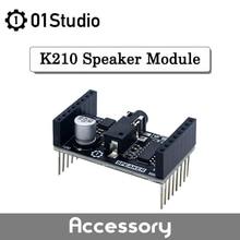 01 módulo de áudio do orador do estúdio placa amplificador digital classe d pam8403 k210 placa desenvolvimento apoio micropython