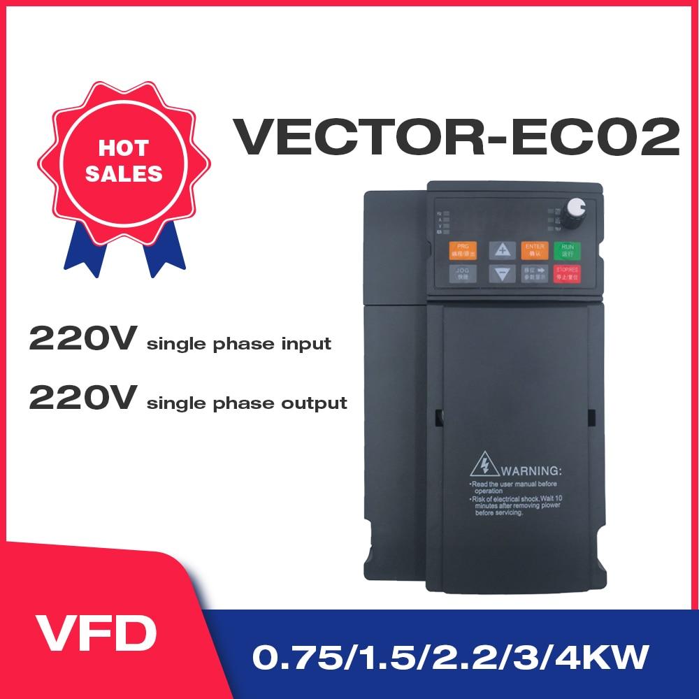 ناقلات الثقيلة تحميل 220 فولت 1.5kW/2.2KW محول تردد متغير 1 المرحلة محول منظم السرعة المحرك angبلا EC02 series al1