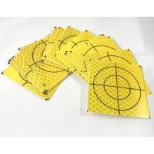 100 pièces 2020 flambant neuf couleur jaune réflecteur feuille taille 20 30 40 50 60 bande réfléchissante cible pour arpentage Total Station