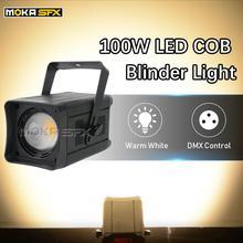 100W COB Par lumière LED blanc chaud/blanc froid/RGBW 4in1 COB Blinder lumière mini led par peut pour DJ Concert mariage avec réflecteur