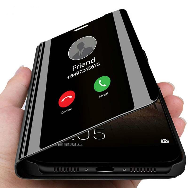Funda de teléfono con espejo inteligente para LG V40 V30 V50 G8 funda protectora inteligente a prueba de golpes para LG Q60 K50