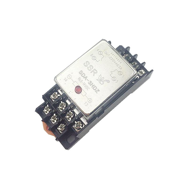 Miniatura pequeña normalmente abierta, 3 a CA 220V CC 3V 6V 9V 12V 14V 24V TOMA DE SDA-3HDZ de relé de estado sólido