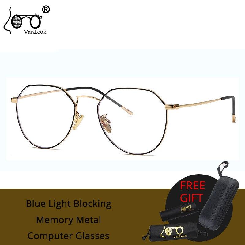 Luz Azul bloqueando gafas de ordenador hombres mujeres claro Anti Rayo Azul Marco de gafas